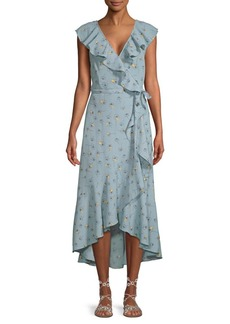 Max Studio Ruffled Wrapped Dress