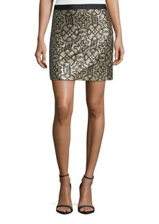 Max Studio Sequin-Pattern Pencil Skirt
