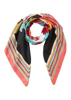 Max Studio Shady Pansy Placement Square Scarf