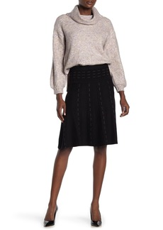 Max Studio Short Banded Sweater Skirt
