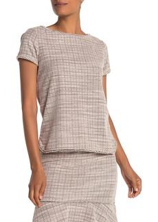 Max Studio Short Sleeve Boucle Knit T-Shirt