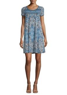 Max Studio Short-Sleeve Printed Dress