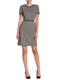 Max Studio Short Sleeved Belted Dress