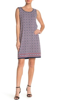 Max Studio Sleeveless Geo Print Shift Dress