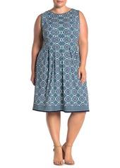 Max Studio Sleeveless Pleated Jersey Dress (Plus Size)