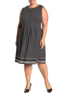 Max Studio Sleeveless Pleated Jersey Dress (Plus Size)