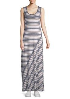 Max Studio Sleeveless Striped Maxi Dress