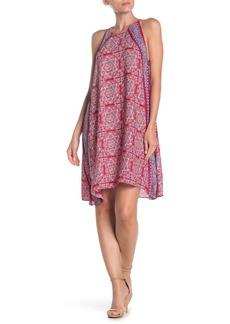 Max Studio Sleeveless Trapeze Print Dress
