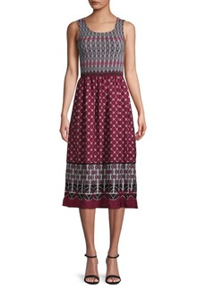Max Studio Smocked Sleeveless A-Line Dress