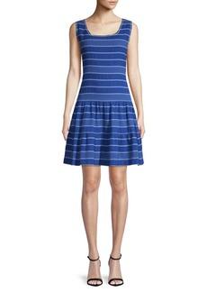 Max Studio Smocked Striped Dress
