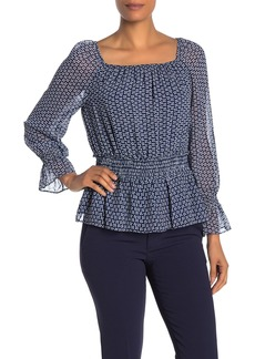Max Studio Smocked Waist Blouse