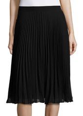 Max Studio Solid Pleated Skirt