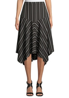 Max Studio Stripe Handkerchief Skirt