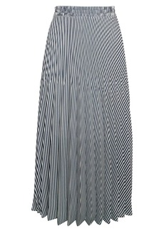 Max Studio Stripe Pleated Skirt