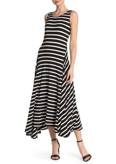 Max Studio Striped A-Line Maxi Dress