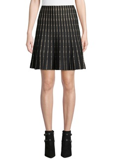Max Studio Striped A-Line Sweater Skirt
