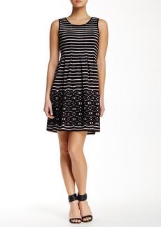 Max Studio Striped Fit & Flare Dress