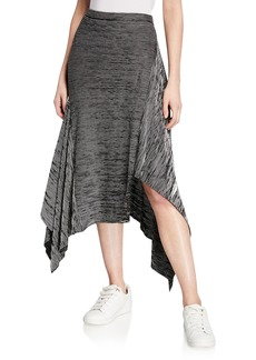 Max Studio Striped Jersey Asymmetric Skirt