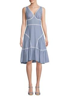 Max Studio Striped Knee-Length Dress