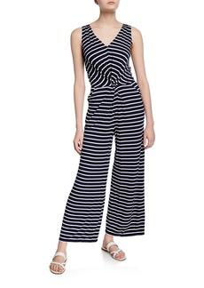 Max Studio Striped Twist-Front Jumpsuit