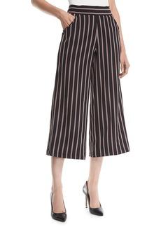 Max Studio Striped Wide-Leg Cropped Pants