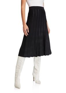 Max Studio Sweater Knit Pleated Skirt