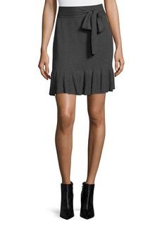 Max Studio Sweater Miniskirt with Waist Tie