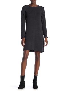 Max Studio Textured Long Sleeve Sweater Dress