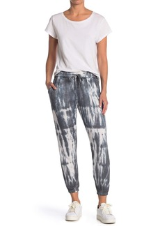 Max Studio Tie Dye Reflection Slub Knit Joggers