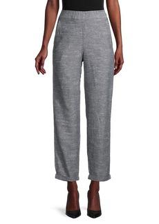 Max Studio Tie-Dyed Linen-Blend Pants