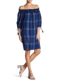 Max Studio Tie Sleeve Off-The-Shoulder Dress