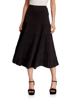 Max Studio Tiered Knit Maxi Skirt