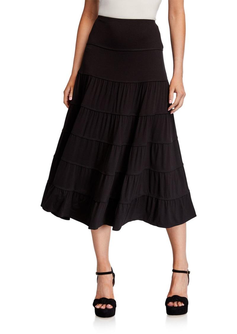 Max Studio Tiered Knit Maxi Skirt
