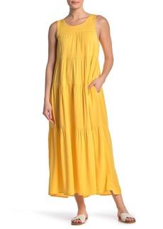 Max Studio Tiered Sleeveless Maxi Dress