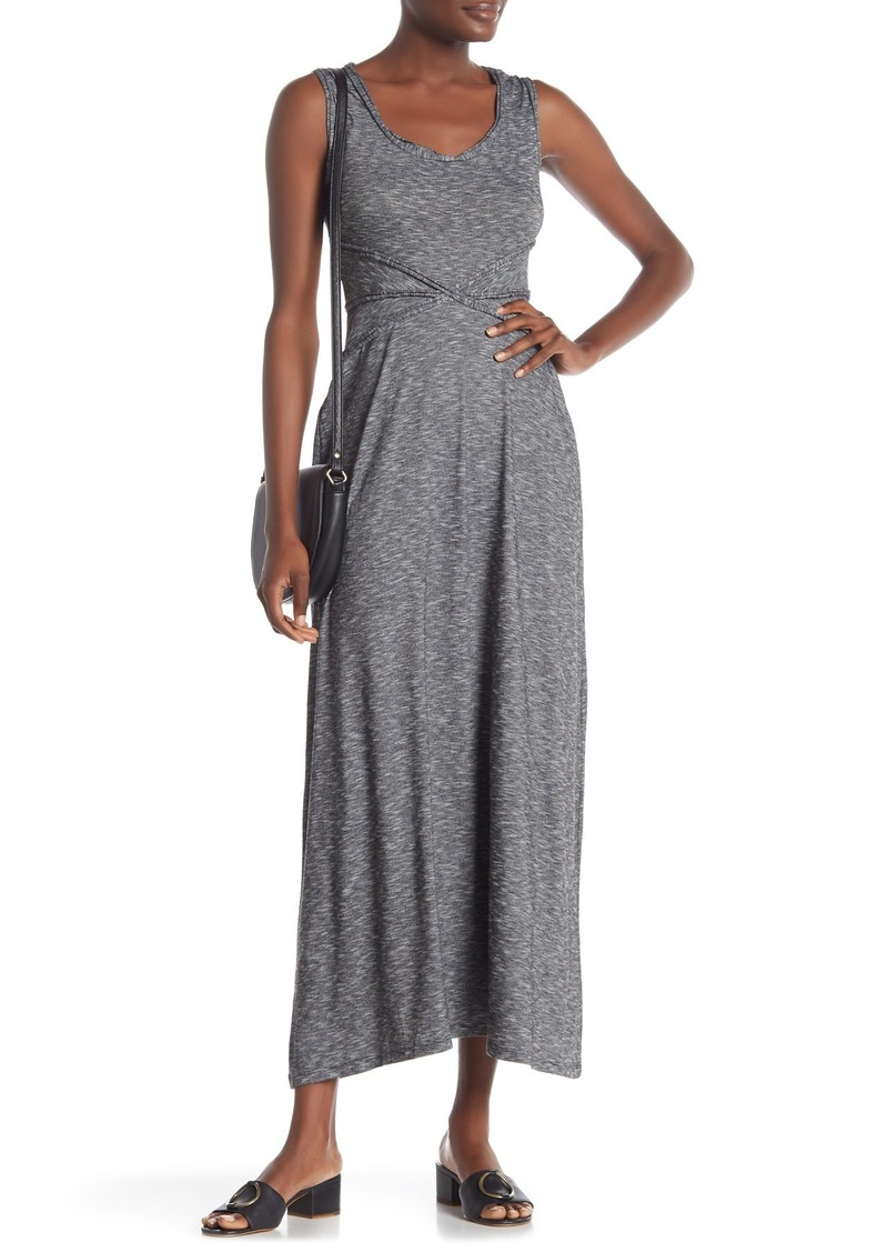 Max Studio Trimmed Slub Maxi Dress