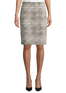 Max Studio Tweed Knit Pencil Skirt