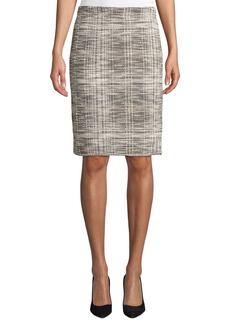 Max Studio Tweed Knit Pencil Skirt