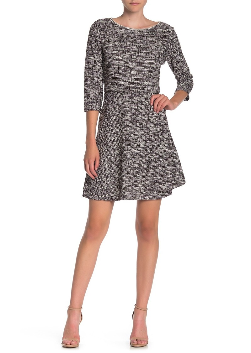 Max Studio Tweed Skater Dress