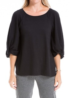 Max Studio Twist 3/4 Balloon Sleeve Top