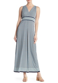 Max Studio V-Neck Sleeveless Pattern Print Maxi Dress