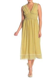 Max Studio V-Neck Sleeveless Print Dress
