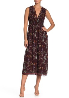 Max Studio V-Neck Sleeveless Print Dress