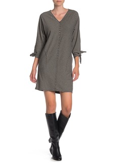 Max Studio V-Neck Tie Sleeve Dress