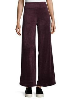 Max Studio Velour Bell-Bottom Pants