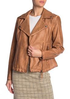 Max Studio Washed Faux Leather Jacket