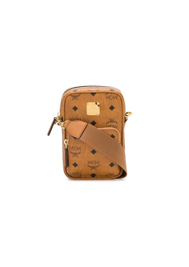 MCM all-over logo messenger bag