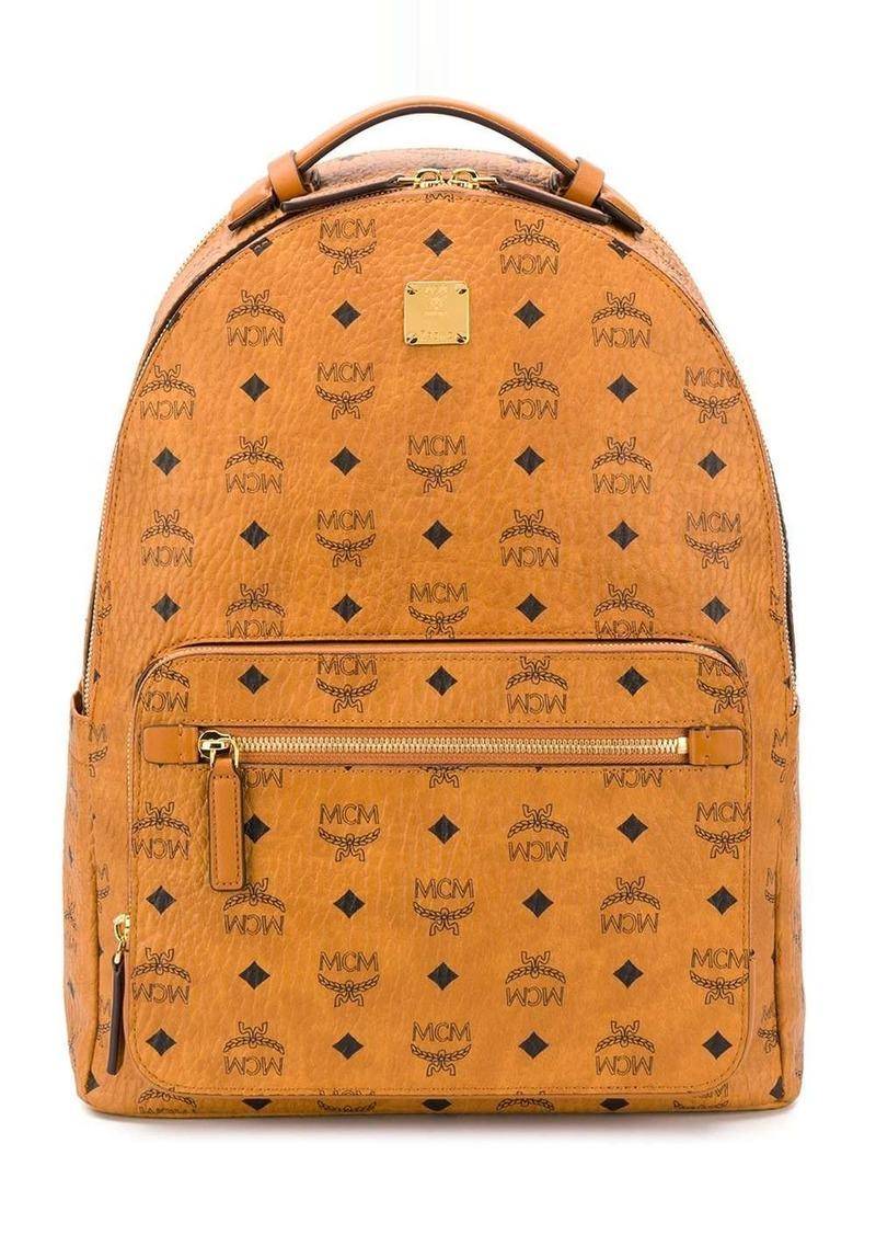 MCM all over logo print backpack