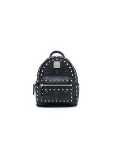 MCM logo-print studded backpack