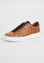MCM Logo Visetos Low Top Sneakers