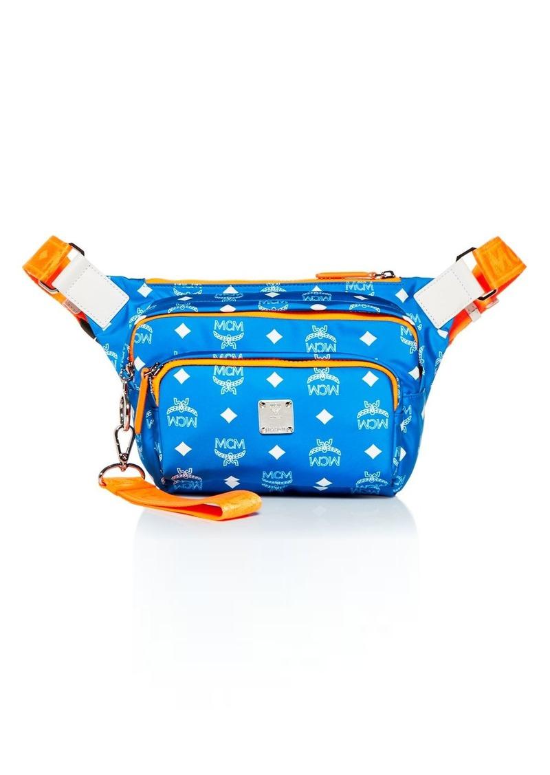 MCM Men's Resnick Medium Nylon Belt Bag